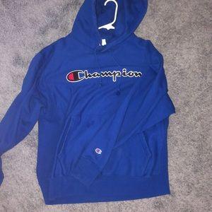Royal Blue Champion Chainstitch Hoodie